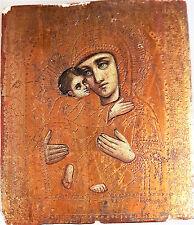 Alte Russland antike Ikone Maria Muttergottes Jesus Madonna  Icono Icon Icone