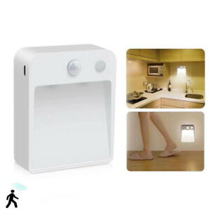 UK LED Motion Sensor Night Lights PIR Wireless Wall Closet Stair Wireless Lamp