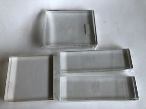 Close To My Heart Clear Acrylic Stamp Blocks - NEW - Lot of 4