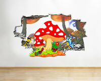 Q565 Cartoon Insects Kids Bedroom Smashed Wall Decal 3D Art Stickers Vinyl Room