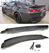For 14-15 Camaro Rear Trunk Spoiler Wing ZL1 Style W/ Carbon Fiber Wicker Bill