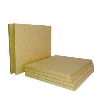 HD Spec Firebrick Fire Board Heat Proof Brick Vermiculite Fireboard 25cm X 61cm
