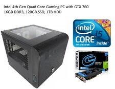 Fortnite Intel Gaming PC GTX760 16GB DDR3 120GB SSD 1TB HDD Win10 Pro Mini ITX