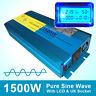 Pure Sine Wave Power Inverter 1500W 3000W Peak DC 12V TO AC 240V LCD Display CAR