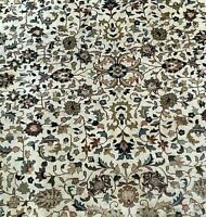 Cream And Red 50+ Years PERSIAN RUG HAND KNOTTED WOOL Oriental Rugs Vintage 8x10