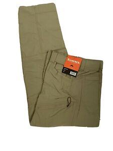 Simms Fishing Pants Men's XXL Axtel UPF50 Quick Dry Lightweight DWR NEW Khaki