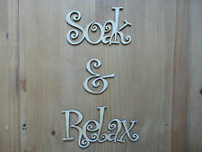 SOAK & RELAX Wooden Words/Letters Personalised Names Wedding/Home/Gift letters