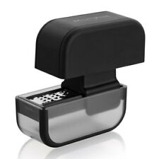 Microplane 9cm Manual Garlic Press Mincer/Plastic Masher Crusher/Squeezer Black