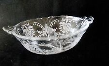 HEISEY DIVIDED BOWL IN THE ORCHID PATTERN