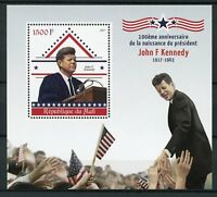 Mali 2017 MNH John F Kennedy JFK 100th Birthday 1v S/S US Presidents Stamps