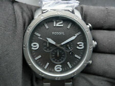 New Old Stock - FOSSIL NATE JR1401 - Black Dial Black Stainless Steel Men Watch