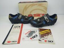 Sidi Rampa Lady Womens Cycling Shoes Size 39 Euro Blue Black USA 8.5
