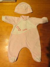 pyjama rrose corolle pour poupon 42 cm