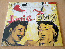 Janis and Elvis 10 Inch LP Record Album 1985 Import France RCA 130 253