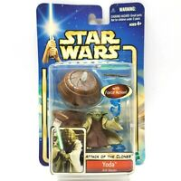 Hasbro Star Wars Attack Of The Clones Yoda Jedi Master Force Action Figure