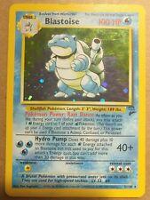 1995 Blastoise Pokémon card HolographicRare Base Set 2 Edition Authentic 2/130