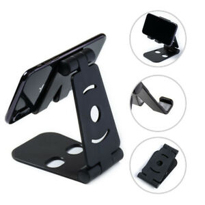 Universal Adjustable Mobile Phone Pad Holder Stand Phone Desk Swivel Foldable UK