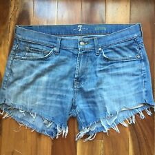 7 for all mankind Denim Cut Off Shorts, slimmy, size 34