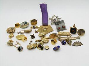 WWII - Vietnam War Masons Masonic, De Molay Cufflinks Sets & Pins Lot of 25