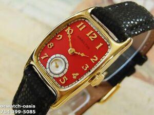 Vintage 1940 HAMILTON BOULTON, Stunning Red Dial, Serviced & Warranty