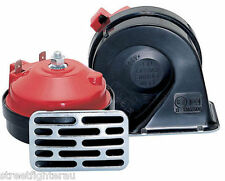 Stebel Electric Twin Horn Low/High tone/ Red cap Chrome Grill (TM80/2LC-12V )