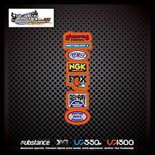Metzeler NGK Fox Rear Fender Orange Decal Sticker MX (545)