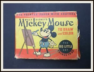 ⭐ Disney MICKEY MOUSE TO DRAW AND COLOR - Big Little Set [1934] - DISNEYANA.IT ⭐