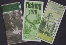 3 Official ONTARIO Fishing Maps 1973 1976 1978 Angling Seasons Trout Bass Pike