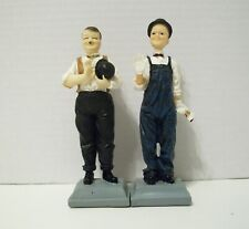 Stan Laurel and Oliver Hardy - 2 Figurine Statues - Movie Memorabilia