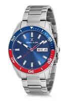 Daniel Klein 44mm Analog Mens Quartz Checker Texture Dial Silver Tone SS Watch