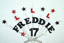 Any name and age learner driver or passed test birthday/celebration cake topper
