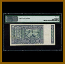 India 100 Rupees, 1969 P-70a PMG 64 Sig #76 Ghandi Commemorative Unc
