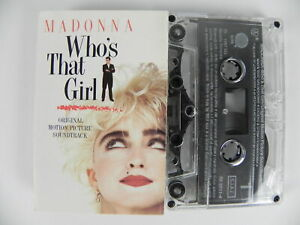 MADONNA Who's that girl Original motion picture soundtrack MC Musicassetta Tape