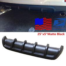 "Black 25""x5"" Universal Rear Shark Fin Style Curved Addon Bumper Lip Diffuser USA"
