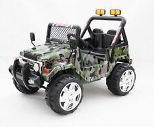 Auto Elettrica per Bambini Fuoristrada Safari Army Militare 12V per Bambini Con