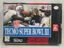 Tecmo Super Bowl III Final Edition (Super Nintendo | SNES) Authentic BOX ONLY