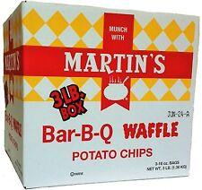 3-POUND BOX Martin's BBQ Barbeque Waffle Potato Chips FREE SHIP