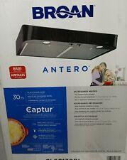 "Broan 30"" Antero CLSC130BL Black Captur Range Hood Vented/Lights Pls Read"