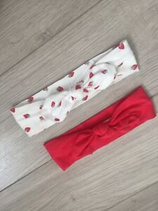 H&M Pair Of Baby Hair Bands With Bow, 100% Cotton  One Size