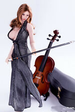 """1/6 Scale Cello in Box Case DIY Scenery Accessories For 12"""" Action Figures"""