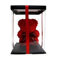 Fun-Size Rose Bear, Mini Rose Bear, Faux Roses Teddy Bear Red