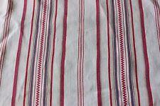 French Farmhouse Antique Mattress Ticking Fabric Yardage c1900Heavy Cotton/Linen