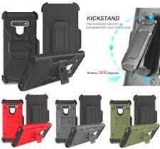 For LG Stylo 6 - Hard Hybrid Combo Holster Armor Phone Case Cover + Belt Clip