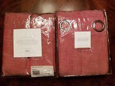 "2 Restoration Hardware RED PERENNIALS LINEN WEAVE Drapes/curtains 108""-$750"