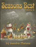 Seasons Best Vol 5 Sandra Malone Painting Pattern Book NEW Snowmen