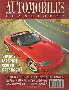 AUTOMOBILES CLASSIQUES 48 DODGE VIPER RT/10 FERRARI 512 TR SCARAB MK1 58 360CH