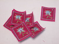 10 x Embroidered Baby Girl Pink Arts Crafts Album Card Making Motif Patch#13E111