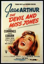 THE DEVIL AND MISS JONES JEAN ARTHUR 1941 1-SHEET LINENBACKED