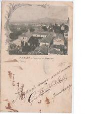 CARTOLINA MERATE - COLLEGIO A. MANZONI - VIAGGIATA 1900