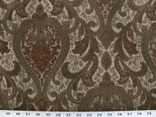 Drapery Upholstery Fabric Sussex Traditional Chenille Jacquard - Bronze